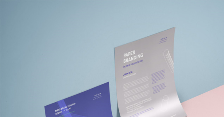 Two A4 Paper PSD Mockup in One Design
