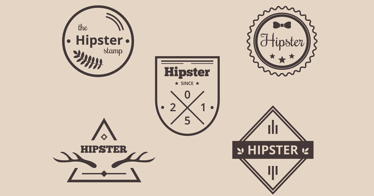 Hipster Icons and Logotypes set.