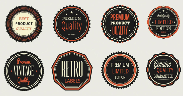 Vintage labels, badges set