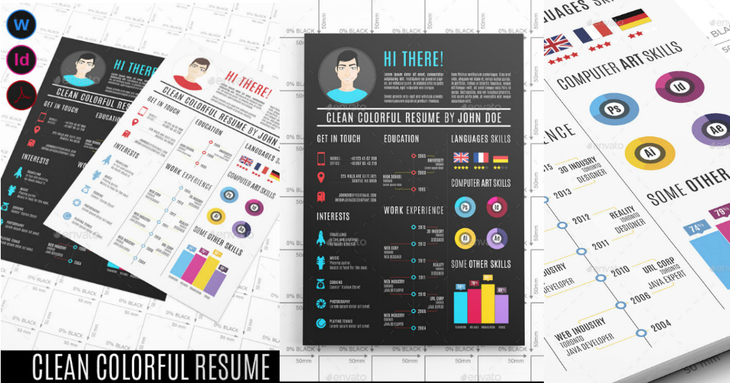 Clean & Colorful Resume