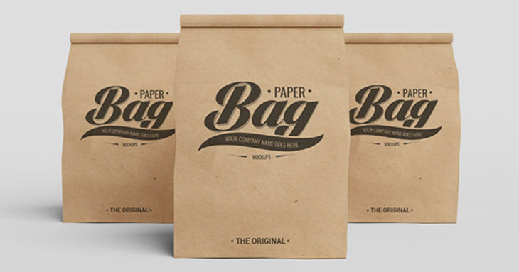 The Original Paper Bag Free PSD Mockup