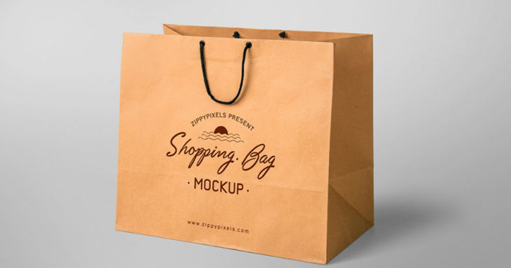 Simple & Appealing Paper Bag Mockup