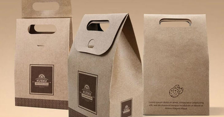 Cake & Cookie Paper Bag Mockup
