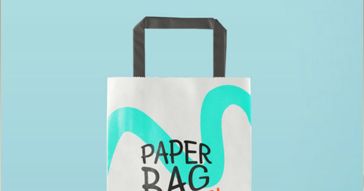 The Edgy Paper Bag Mockup