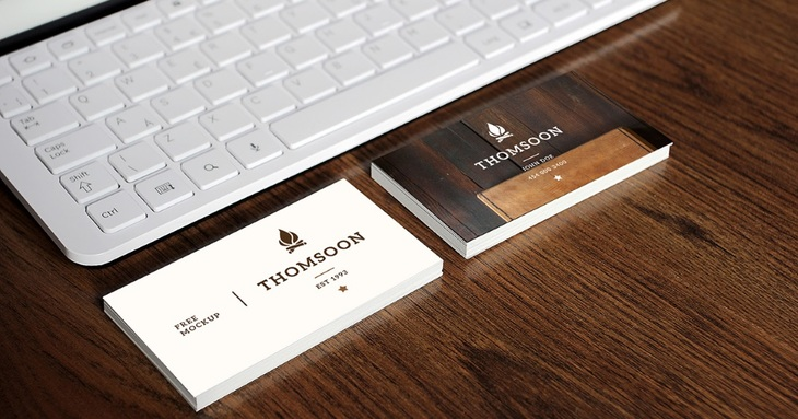 9+ Business Cards and Tablet Free PSD Mockup