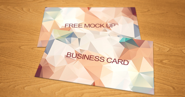 Business card boke free mock up PSD